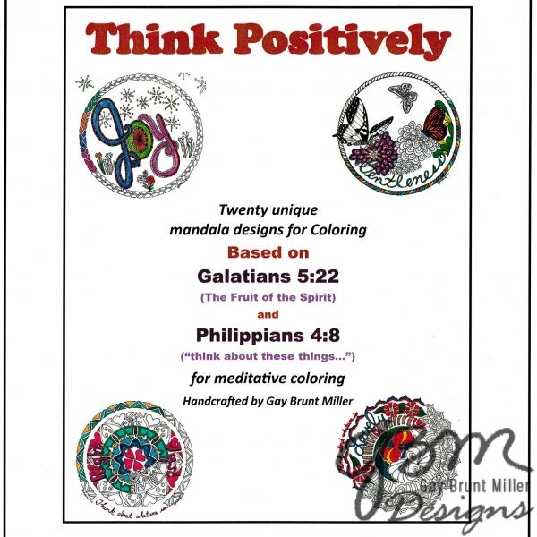 Think Positively Coloring Sheets